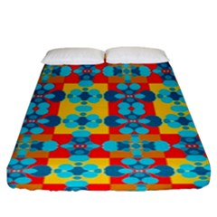 Pop Art Abstract Design Pattern Fitted Sheet (king Size) by Nexatart