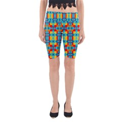 Pop Art Abstract Design Pattern Yoga Cropped Leggings