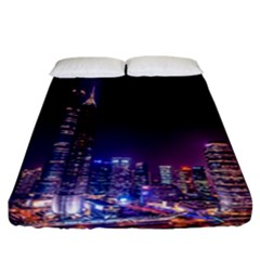 Raised Building Frame Fitted Sheet (california King Size) by Nexatart