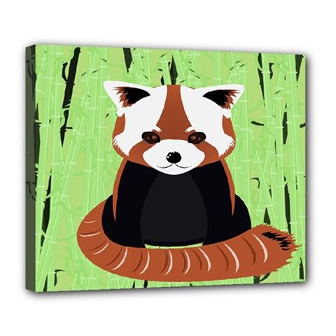 Red Panda Bamboo Firefox Animal Deluxe Canvas 24  X 20