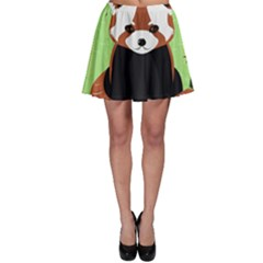 Red Panda Bamboo Firefox Animal Skater Skirt