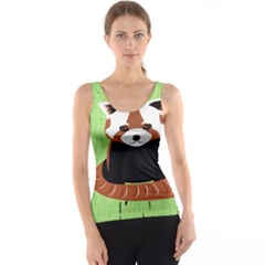 Red Panda Bamboo Firefox Animal Tank Top