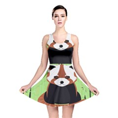 Red Panda Bamboo Firefox Animal Reversible Skater Dress