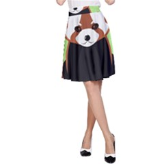 Red Panda Bamboo Firefox Animal A Line Skirt