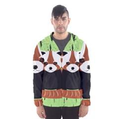 Red Panda Bamboo Firefox Animal Hooded Wind Breaker (men)