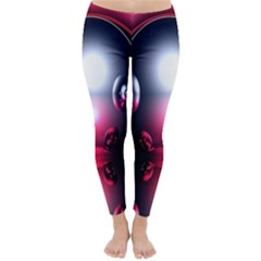 Red 3d  Computer Work Classic Winter Leggings