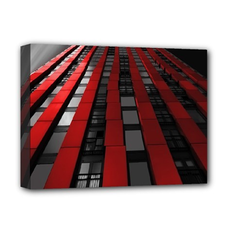 Red Building City Deluxe Canvas 16  X 12