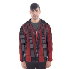 Red Building City Hooded Wind Breaker (men)
