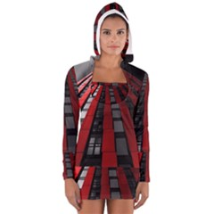 Red Building City Women s Long Sleeve Hooded T Shirt