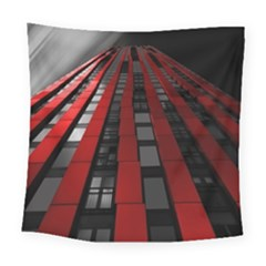 Red Building City Square Tapestry (large)