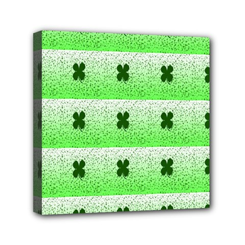 Shamrock Pattern Background Mini Canvas 6  X 6