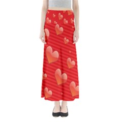 Red Hearts Maxi Skirts