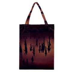 Silhouette Of Circus People Classic Tote Bag by Nexatart