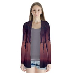 Silhouette Of Circus People Cardigans