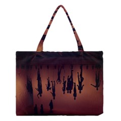 Silhouette Of Circus People Medium Tote Bag