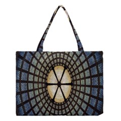 Stained Glass Colorful Glass Medium Tote Bag by Nexatart