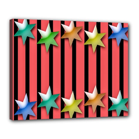 Star Christmas Greeting Canvas 20  X 16  by Nexatart