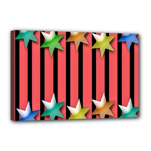 Star Christmas Greeting Canvas 18  X 12  by Nexatart