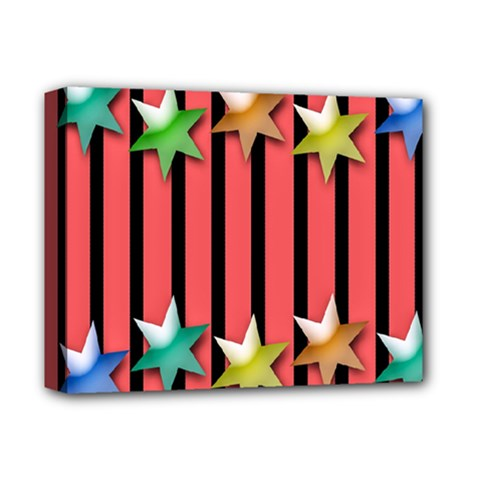 Star Christmas Greeting Deluxe Canvas 14  X 11  by Nexatart