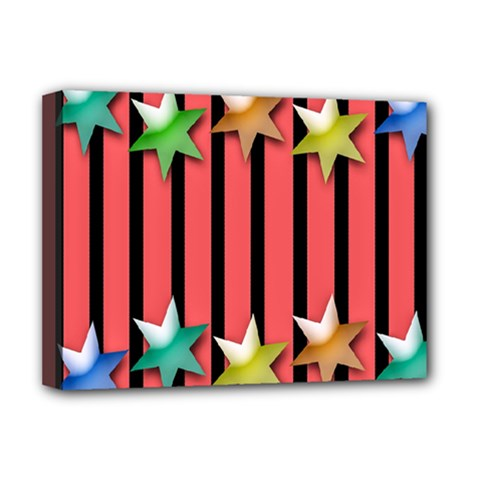 Star Christmas Greeting Deluxe Canvas 16  X 12   by Nexatart