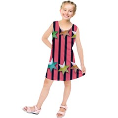 Star Christmas Greeting Kids  Tunic Dress by Nexatart