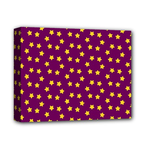 Star Christmas Red Yellow Deluxe Canvas 14  X 11