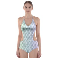 The Background Wallpaper Mosaic Cut Out One Piece Swimsuit