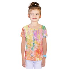 Watercolour Watercolor Paint Ink  Kids  One Piece Tee by Nexatart