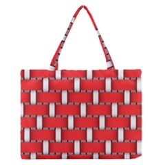 Weave And Knit Pattern Seamless Background Wallpaper Medium Zipper Tote Bag by Nexatart