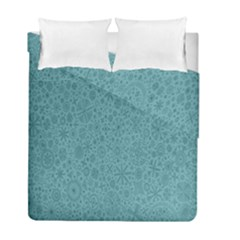 White Noise Snow Blue Duvet Cover Double Side (full/ Double Size)