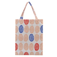 Wheel Circle Red Blue Classic Tote Bag