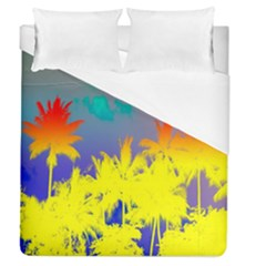 Tropical Cool Coconut Tree Duvet Cover (queen Size)