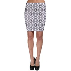 Flower Black Triangle Bodycon Skirt