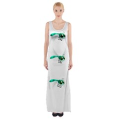 Flying Dragonfly Maxi Thigh Split Dress