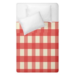 Gingham Red Plaid Duvet Cover Double Side (single Size)