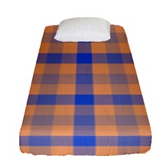 Fabric Colour Orange Blue Fitted Sheet (single Size)