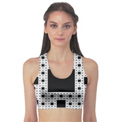 Hole Plaid Sports Bra