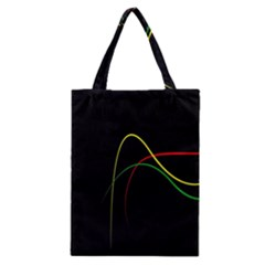 Line Red Yellow Green Classic Tote Bag by Jojostore