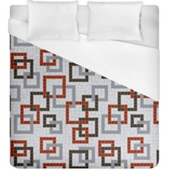 Links Rust Plaid Grey Red Duvet Cover (king Size) by Jojostore