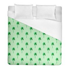 Palm Tree Coconoute Green Sea Duvet Cover (full/ Double Size) by Jojostore