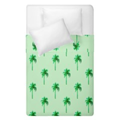 Palm Tree Coconoute Green Sea Duvet Cover Double Side (single Size) by Jojostore