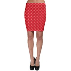 Paw Print Background Wallpaper Cute Paw Print Background Footprint Red Animals Bodycon Skirt by Jojostore