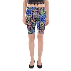 Puzzle Color Yoga Cropped Leggings