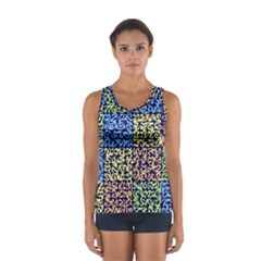 Puzzle Color Women s Sport Tank Top