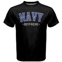 Navy Boyfriend -  Men s Cotton Tee by FunnySaying