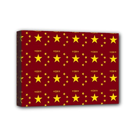 Chinese New Year Pattern Mini Canvas 7  x 5