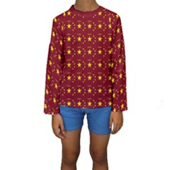 Chinese New Year Pattern Kids  Long Sleeve Swimwear
