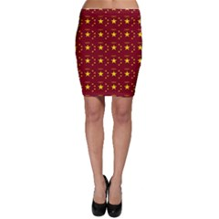 Chinese New Year Pattern Bodycon Skirt