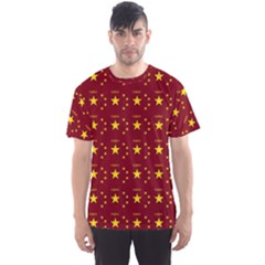 Chinese New Year Pattern Men s Sport Mesh Tee