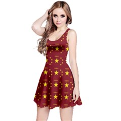 Chinese New Year Pattern Reversible Sleeveless Dress